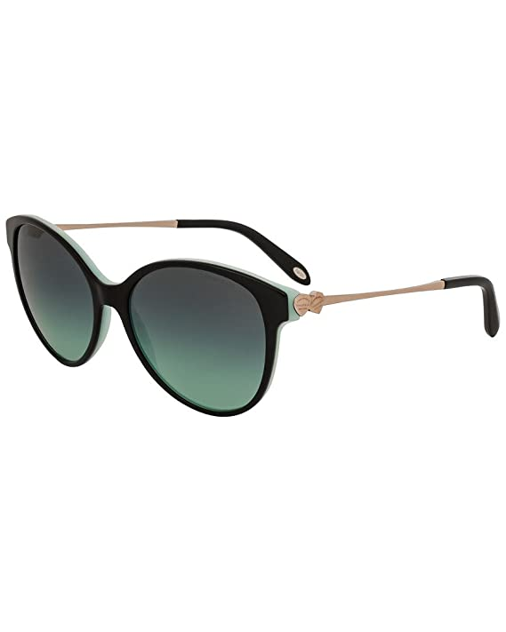 Tiffany Damen Sonnenbrille 0TY4127 81343B, Blau (Havana/Blue/Browngradient), 56